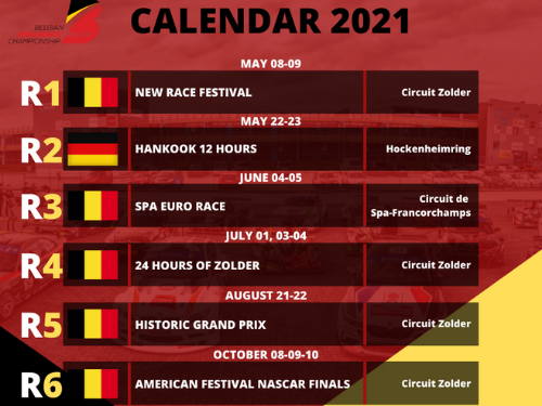 New 2021 Belcar Series calendar